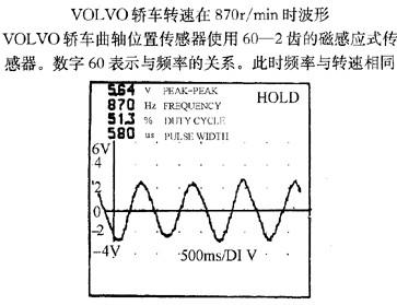曲轴位置传感器信号波形及故障分析